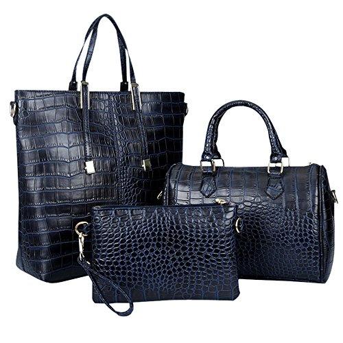 women-handbagwomen-bagkingh-crocodile-pu-leather-3-pcs-tote-handbag-purse-set-102-deep-blue