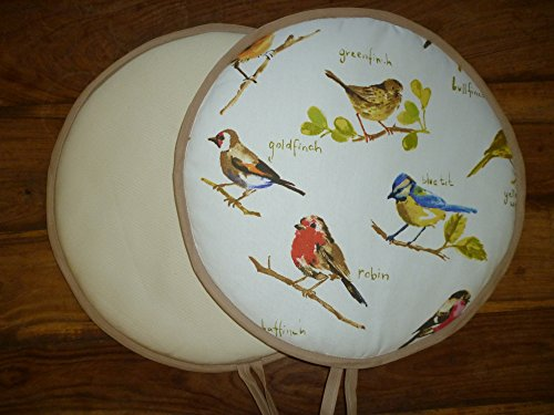 Pair of British Garden Birds Range Cooker Hob Lid Covers Hob Top Pads