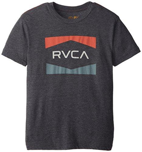 Rvca Big Boys' Nation T-Shirt, Black, Large
