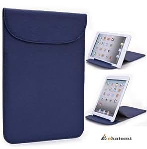 [Flexi-Stand] DARK BLUE   Universal 7 Tablet Case Ultra Slim Wrapper Stand for Samsung P1010 Galaxy Tab Wi-Fi. Bonus Ekatomi Screen Cleaner