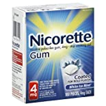Nicorette Stop Smoking Aid White Ice Gum 4 Mg 100 Ct.