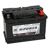 HR HiPower Autobatterie 12V 77Ah 750A