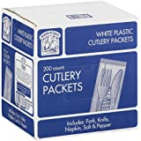 Bakers and Chefs Plastic Cutlery Picnic Pack