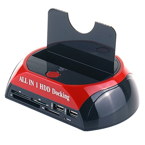 Discover Bargain WANLONGXIN 879U2C USB 2.0 to SATA Hard Drive Docking Station with 2-Port Hub and Ca...