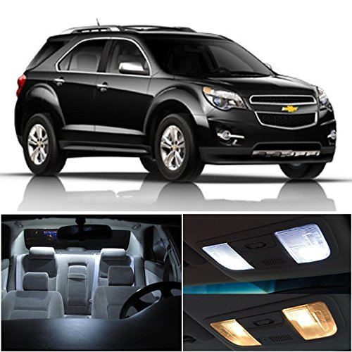Chevy Equinox 2010 & Up Xenon White Premium Led Interior Lights Package Kit (7 Pieces)