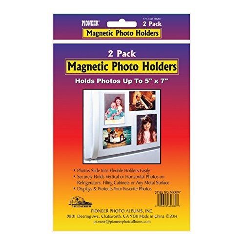 Pioneer Photo Albums Magnetic Photo Holder for 5 by 7-Inch Prints, 2-Pack