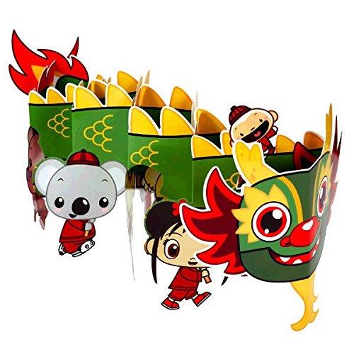 "Amscan Adorable Ni Hao Kai Lan Chinese Dragon Party Table Centerpiece (1 Piece), Multi, 9 x 24"""