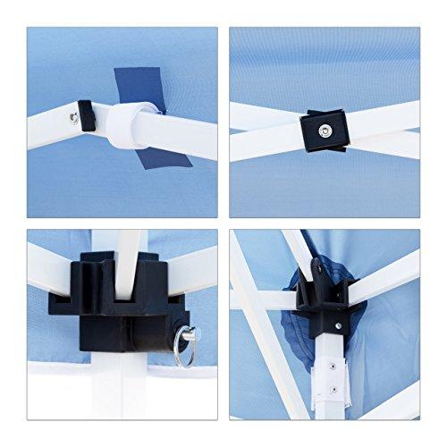 test relaxdays faltpavillon hbt ca 2 45 x 3 x 3 m. Black Bedroom Furniture Sets. Home Design Ideas