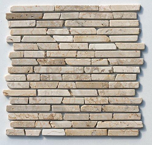 st-433-marmor-naturstein-stab-mosaik-fliesen-weiss-beige-design-wand-dekoration