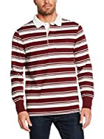 Timberland Polo Tfo Ls Stripe Rugby (Burdeos / Blanco)