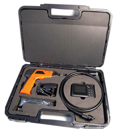 Wireless Waterproof Snake Plumbing Sewer Inspection Camera with 2.5 TFT-LCD Color removeable LCD Monitor come with Easy Carrying Storage Box