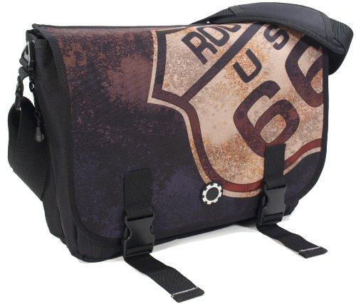 Dadgear Messenger Diaper Bag - Route 66 front-362486