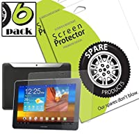 Spare Products Screen Protector Film for Samsung Galaxy Tab 10.1 - (6 Pack) Anti-Fingerprint