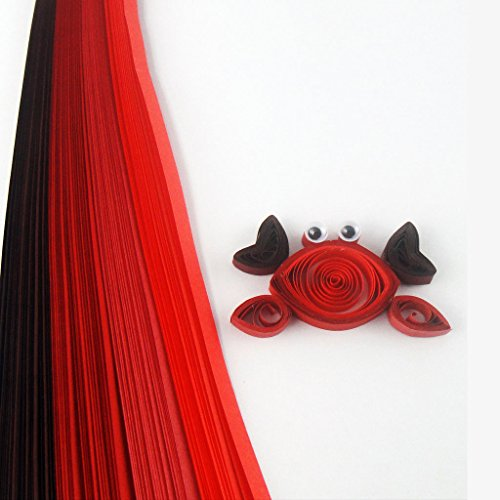 Quill On Quill On Tones of Red Quilling Strips, Red