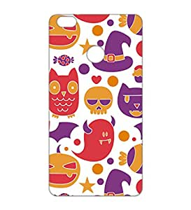 Happoz Xiaomi Mi Max Cases Back Cover Mobile Pouches Patterns Floral Flowers Premium Printed Designer Cartoon Girl 3D Funky Shell Hard Plastic Graphic Armour Fancy Slim Graffiti Imported Cute Colurful Stylish Boys Z083