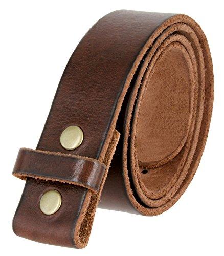 BS001 Vintage Genuine Leather Belt Strap Without Slot Hole 1.5