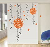 StickersKart Wall Stickers Orange Butterflies Bathroom Decal (Multi-Colour, 1...-71402