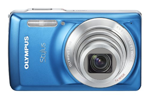 Olympus Stylus 7030 14 MP Digital Camera with 7x Wide Angle Dual Image Stabilized Zoom and 2.7-inch LCD (Blue)