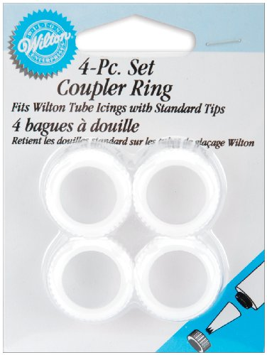 Wilton 4 Piece Decorating Tip Coupler Ring Set