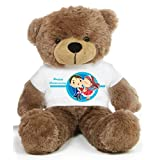 Brown 2 feet Big Teddy Bear wearing a Happy Anniversary T-shirt - B00KUEGH1M