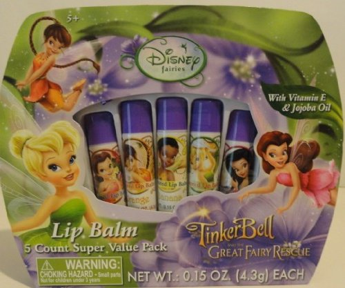Disney Fairies Lip Balm ~ 5 Count Super Value Pack