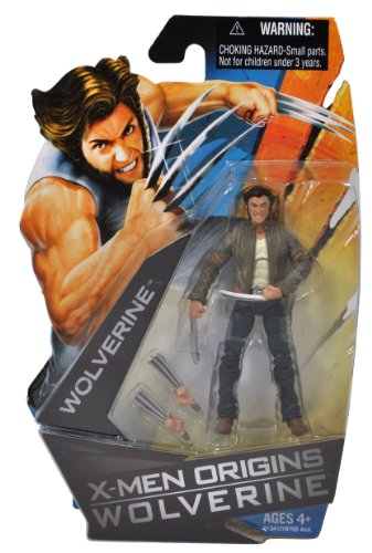 Buy Low Price Hasbro X-Men Origins Wolverine Movie Series 4 Inch Tall Action Figure – WOLVERINE (in Brown Jacket and Blue Jeans) with 2 Pairs of Interchangeable Hand (B003UHBMUW)