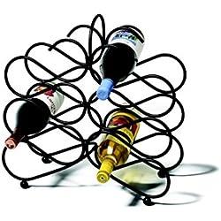 Spectrum Diversified 48710 Scroll Wine Rack, Black