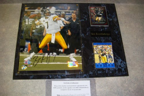 Ben Roethlisberger Autographed Pittsburgh Steelers Wall Plaque w/ COA
