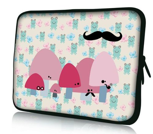 Lovely Frog Neoprene Soft 7 8 8.2 Notebook Sleeve Bag Action Cover Pouch For 7in HKC Capacitive Touchscreen Pastille/Apple iPad mini 7.9 in/Samsung GALAXY Tab P3100 2,7.7/Be good enough to Paperwhite/Kindle Touch/Kindle holocaust HD 7 inch/7 BlackBer