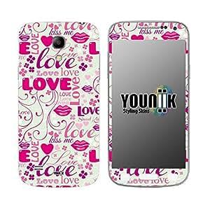YOUNiiK Styling Skin Designfolie / Handy Skin für Samsung Galaxy S4 mini i9195 - Love Love Valentinstag (Lieferumfang = Skin für Vorder- und Rückseite)