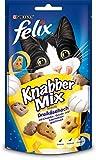 Felix Knabber Mix Katzensnack Dreikäsehoch, 8er Pack (8 x...