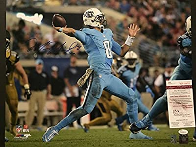 Autographed/Signed Marcus Mariota Tennessee Titans 16x20 Football Photo JSA & GTSM COA #1