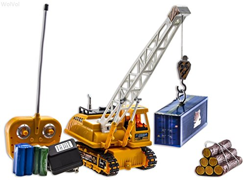 Toy Cranes For Boys : Wolvol channel electric remote control crawler crane