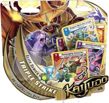 Kaijudo Trading Card Game Elite Series Triple Strike Premium Foil Deck - 1