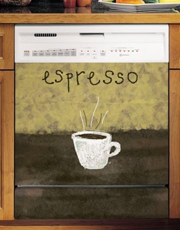 Grip Promotions 10276 Espresso Art 2 Appliance Art- small