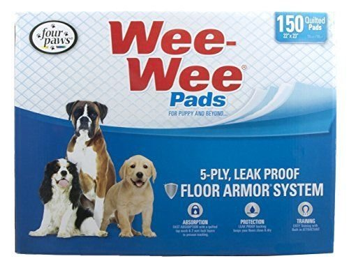 Four Paws Wee-Wee Puppy Housebreaking Pads, 150-Pack (Bullseye Pads compare prices)