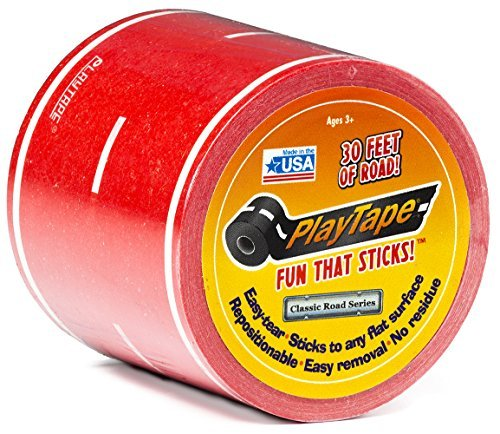 PlayTape Classic Road Series 30ft x 2in Red Road - 1