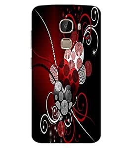 ColourCraft Hearts Pattern Design Back Case Cover for LeEco Le 2