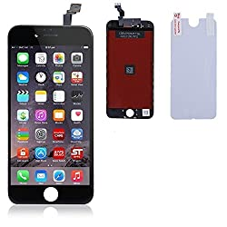 Apple iPhone 6 Full LCD Display + Touch Screen Digitizer Assembly by Online for Good : Black Color LCD for iPhone 6