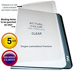 5 Mil Clear Plastic Report Covers 8-3/4 x 11-1/4 Binding Sheets Qty 100 with 2 Round Corners