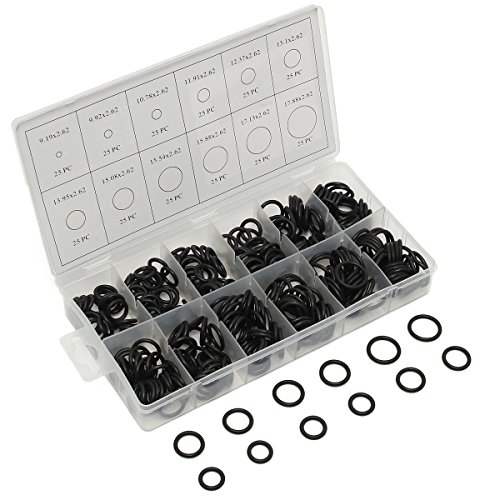 300 pcs Black Rubber O-Ring Washer Seals Assortment 12 Sizes (Kawasaki Mechanical Seal compare prices)