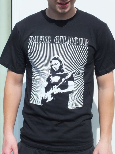 Rgm802 Dave Gilmour Black T-Shirt Licensed Size: Small