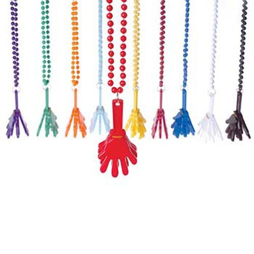 Green Hand Clapper Necklaces