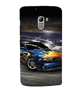 99Sublimation Sports Car 3D Hard Polycarbonate Back Case Cover for Lenovo K4