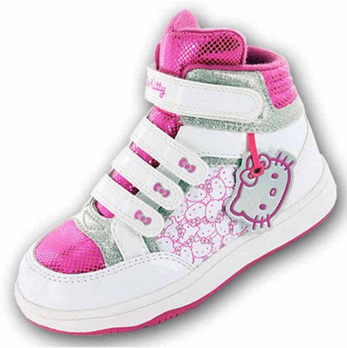 Nuovo Ragazze Hello Kitty Cartoon Character Hi-Top Trainer Trainer scarpa 61486, rosa (Pink), 34 EU