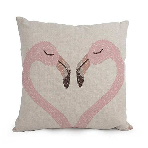 Beautfuldecor Home Decoration Love Crane LOVE YOU Pillowcase 20X30 Inch Standard Size Throw Cushion Cover
