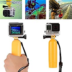 Luxebell Waterproof Camera Float Floating Handle Grip for Gopro Hero 4 Black Silver Session Hero+ Lcd 3+ 3 2 Camera and Sjcam Sj4000 Sj5000 - Save Your Camera From Sinking