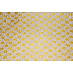 Aagaman Fashions Brocade , Cotton Fabrics (TSFB028_Yellow)