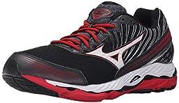 Mizuno Men\'s Wave Paradox 2 Running Shoe, Black/White, 9.5 D US
