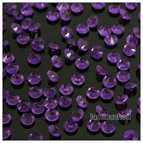 2000pcs 4.5mm Wedding Supplies Crystals Diamond Table Confetti Party Decoration Purple (Teal Zebra Party Supplies compare prices)